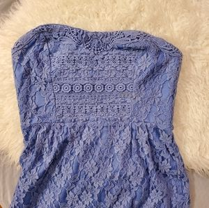 Periwinkle blue strapless Free People dress